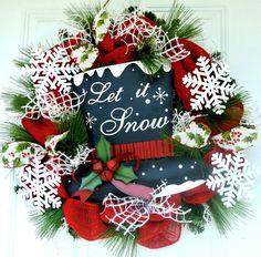 Let it snow winter wreath