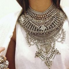 Gorgeous statement necklace that would look beautiful with fitted plain top