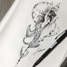 Best 10 fishman mandala tattoo design by Benz. Future Tattoos, Love Tattoos, Unique Tattoos, Body Art Tattoos, Tattoos For Women, Awesome Tattoos, Gorgeous Tattoos, Tattoo Art, Mermaid Tattoo Designs