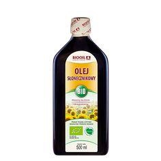 Ekologiczny olej słonecznikowy. Tłoczony na zimno z nasion słonecznika BIO. Bottle, Food, Arnica Montana, Flask, Essen, Meals, Yemek, Jars, Eten