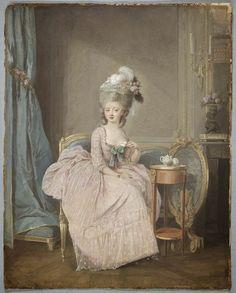 Lady Drinking Tea by Niklas Lafrensen 18th Century Clothing, 18th Century Fashion, 19th Century, Historical Costume, Historical Clothing, Harvard Art Museum, 18th Century Costume, Rococo Fashion, Architecture Tattoo