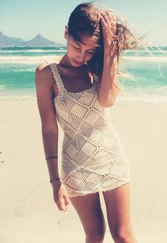 ffe0aac8569d4 Handmade crochet mini dress Crochet Bikini