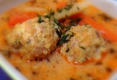 Transylvanian meatball soup with tarragon Hungarian Cuisine, Hungarian Recipes, Hungarian Food, Pasta Recipes, Cooking Recipes, Meatball Soup, Veggie Soup, Food 52, Soups And Stews