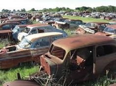 Image result for wrecking yard antique cars and trucks