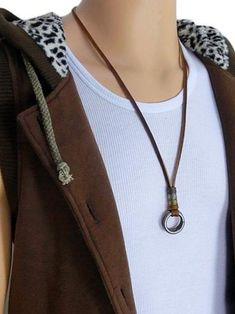 This eye-catching men's necklace is a stylish way to enhance your individual style.  Stylish and versatile, this is a perfect addition to your wardrobe.  Leather Necklace|Leather Necklace pendant|Leather Necklace pendant simple|Leather Necklace statement|Leather Necklace for men|handmade necklaces  #necklace #menaccessories #menjewelry