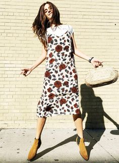 e6935818e3e2 Ganni Elmira Silk Dress in Brick Rose Size