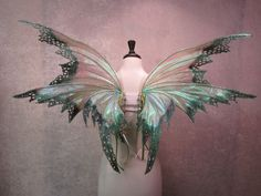 Ready to Ship - Adult Iridescent Dark Fairy Absinthe Fairy Wings Fantasia Diy, Adult Fairy Wings, Absinthe Fairy, Butterfly Fairy, Woodland Fairy, Faeries, Iridescent, Fairy Tales, Goblin