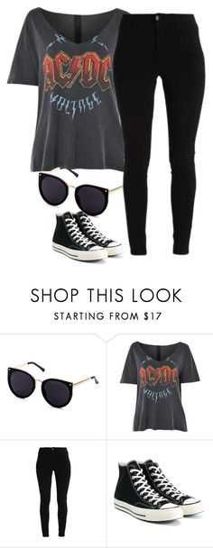 """Sin título #461"" by ayme-vecha ❤ liked on Polyvore featuring Topshop and Converse"