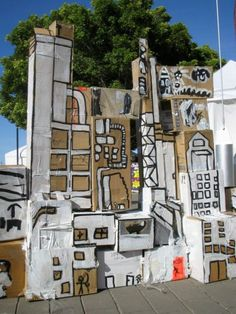 Cardboard Cargo - Art at the Hart 2009 2009 by Annalise Rees