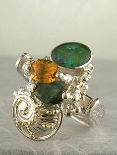 Get a Unique Ring Pendant like this that Works as both a Ring and a Pendant,  Gregory Pyra Piro, #Handmade #Sterling #Silver and #Gold, #Art Jewellery, #Jewellery Handcrafted by #Artist, #Ring Pendant 5083