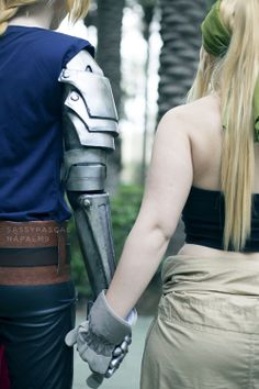 Ed and Winry cosplay.....yup this is pretty much perfect...and its his fav anime.... ugh I love him
