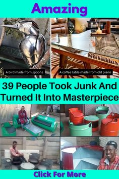 """The things you can do with """"junk"""" are astounding. While some of these are easy, others require a little bit of know-how. But they'll all blow you away. It's all about being creative and taking a chance. If this is something that you're interested in doing or you're simply curious as to what others have done, you'll love what these 39 people did to give junk a second chance. #OldItems #Reuse"""