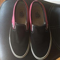 6b8be513001 Vans Slip On Pink and black Vans slip on shoes. Women s size 10.5. Vans