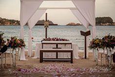 Tips de un Wedding Planner: El sueño de boda Montaje de Ceremonia Religiosa en Playa