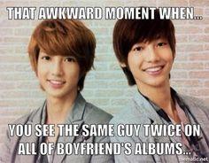 HAHAHAHA!! Boyfriend - Kwangmin and Youngmin. This totally happened to me!!
