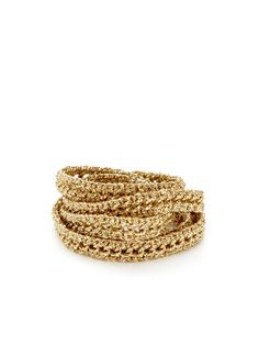 Long Metallic Thread & Chain Wrap Bracelet by Presh on Gilt