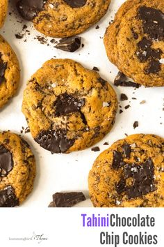 If you've never tried tahini in a cookie, you don't know what you're missing! Such depth of flavor! Brownie Recipes, Cookie Recipes, Scone Recipes, Best Chocolate Chip Cookies Recipe, Chocolate Cookies, Thyme Recipes, Salted Chocolate, Chocolate Shavings, Biscuit Recipe