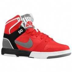 096324afabf Nike Mach Force Mid - Men's - Sport Inspired - Shoes - Sport Red/Charcoal/ Black/White