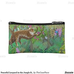 Peaceful Leopard in the Jungle Bagettes Bag Cosmetic Bag