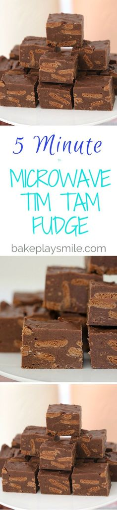 Minute Microwave Tim Tam Fudge This 5 Minute Microwave Tim Tam Fudge is the quickest and easiest fudge you'll ever make!This 5 Minute Microwave Tim Tam Fudge is the quickest and easiest fudge you'll ever make! Tim Tam, Easy Desserts, Delicious Desserts, Dessert Recipes, Yummy Food, Fudge Recipes, Baking Recipes, Bread Recipes, Biscuits