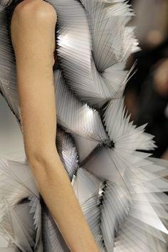 Triangular Structures - structured 3D fashion design; wearable sculpture // Iris van Herpen