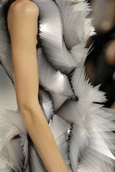 Triangular Structures - structured 3D fashion design; wearable sculpture // Iris van Herpen