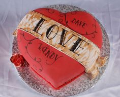 puffy heart tattoo cake...perfect for valentine's day