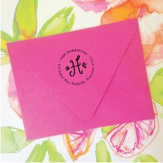 Address Stamp Choose Your Initial by NatalieChangStudio on Etsy