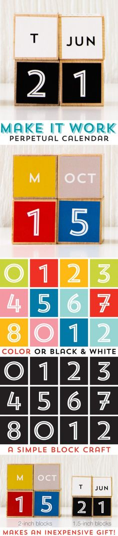 $7 Make It Work Perpetual Calendar from Caravan Shoppe! These will make awesome teacher gifts!