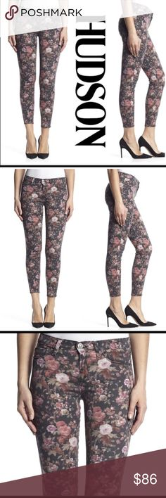 "Hudson Super Skinny Floral Print Jeans NWT Kick off Fall/Winter with these beautiful Super Skinny Floral Print Jeans by Hudson. NWT. Pair them with your favorite solid color top and boots! Waist is 18"" / inseam 28"" / leg opening 10"". Made of 43% viscose, 33% cotton, 17% lyocell, 5% polyester and 2% elastan. Hudson Jeans Jeans Skinny"