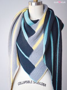 Double Deco Wrap By Leah Coccari-Swift - Purchased Knitted Pattern - (ravelry)