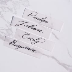 escort/place/name cards Place Names, Bespoke Design, Name Cards, Simple Weddings, Wedding Stationery, Service Design, Place Card Holders, Calligraphy, Fine Art