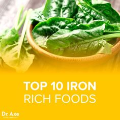 Top 10 Iron Rich Foods - DrAxecom Click the image or link for more smoothie information. Healthy Treats, Healthy Recipes, Healthy Foods, Natural Protein, Healthy Green Smoothies, Iron Rich Foods, Frozen Vegetables, Food To Make, Health Fitness