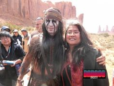 Johnny Depp as Tonto, on the set! World, meet NM Film industry.
