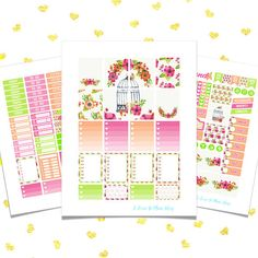 50% OFF SALE/ FLOWERS Printable Planner Stickers for use w/