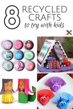 Roundup of recycled crafts - Savvy Sassy Moms
