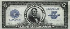 u.s. five dollar bill | Very Rare Old US Dollar Bills (22 pics)