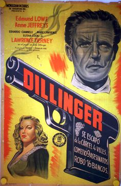 1945 movie poster | Top » Catalog » Historical Characters » 4021 DILLINGER