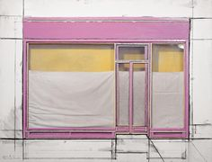 """Store Front (Project)   Collage 1964. 48 x 63 x 5 1/8"""" .The Museum of Modern Art, New York City, USA (Gift of Agnes Gund)   (Eeva-Inkeri, © 1964 Christo)"""