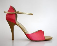 Turquoise Tango Shoes in Pink