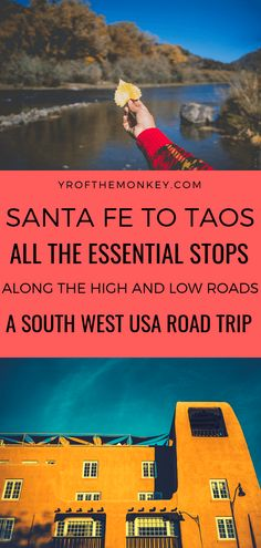 Santa Fe to Taos is one of the most gorgeous road trips in USA to embark on especially in Fall spring and even winter! This comprehensive post covers the best spots to visit on both the high and low roads from Santa Fe to Taos and back in New Mexico. New Mexico Road Trip, Travel New Mexico, Taos New Mexico, Road Trip Usa, Mexico Vacation, Cruise Vacation, Disney Cruise, Vacation Spots, Vacation Ideas
