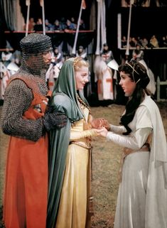 Robert Taylor, Joan Fontaine & Elizabeth Taylor - IVANHOE