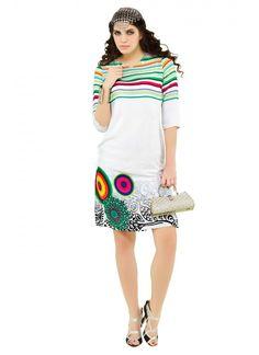 Blissful Multi Colour Party Wear Kurti