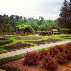 Vanderbilt Mansion formal gardens.