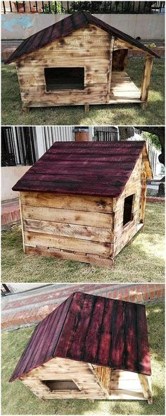pallets-made-dog-house-plan