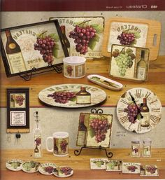 40 Best Grape/Grapevine Kitchen images | Grape kitchen decor ...