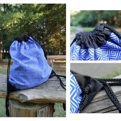 Royal Blue Geometric Drawstring Bags. http://www.redbubble.com/people/itsvanedani/works/15702290-royal-geometric?p=drawstring-bag