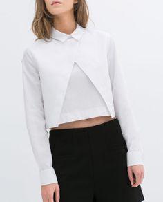 Image 2 of POPLIN SHIRT from Zara