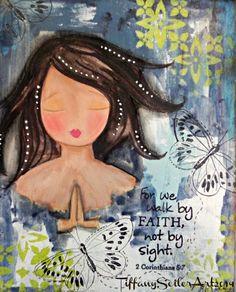 WALK By FAITH 8x10 Original Mixed media by Southendgirlart on Etsy