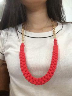 Tshirt tarn necklace